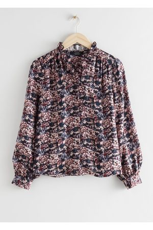 & OTHER STORIES Ruffled Neckline Blouse