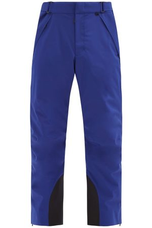 Moncler Men Ski Suits - Zipped-ankle Ski Trousers - Mens - Navy