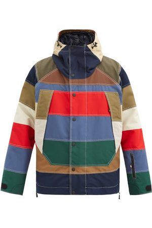 Moncler Chetoz Striped Down Jacket - Mens - Multi
