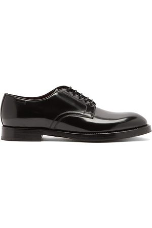 Dolce & Gabbana Giotto Spazzolato-leather Derby Shoes - Mens