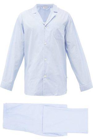 Zimmerli Men Pajamas - Piped Cotton Pyjamas - Mens - Light