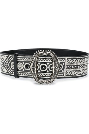 Etro Embroidered buckle belt