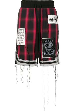 HACULLA Patch-detail plaid shorts