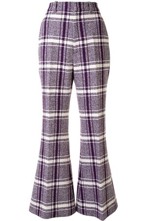 Gucci Women Skinny Pants - Checked wide-leg trousers