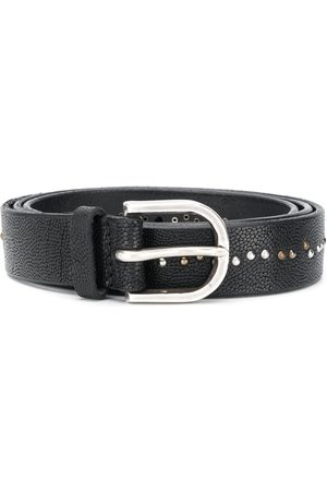 Orciani Men Belts - Studded leather belt