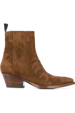 Sartore Pointed suede ankle boots