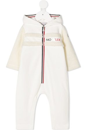 Moncler Shearling-trimmed hooded romper