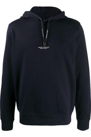 Armani Men Hoodies - Logo drawstring hoodie