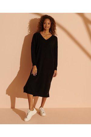 Superdry Women Dresses - Wool Cashmere V-Neck Dress