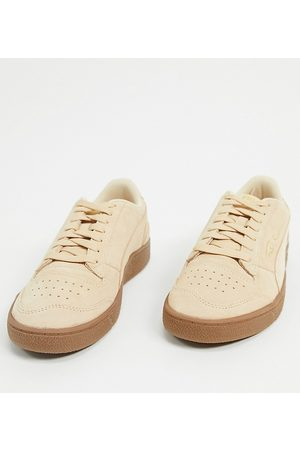 PUMA Ralph Sampson suede gum sole sneakers in tan exclusive to ASOS