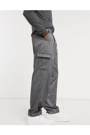 ASOS Wide leg cargo smart pants in