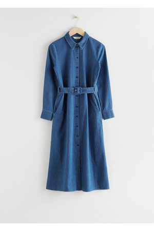 & OTHER STORIES Belted Midi Dress