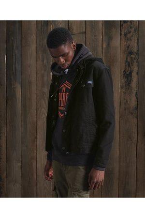 Superdry Men Denim Jackets - Hooded Hacienda Trucker Jacket