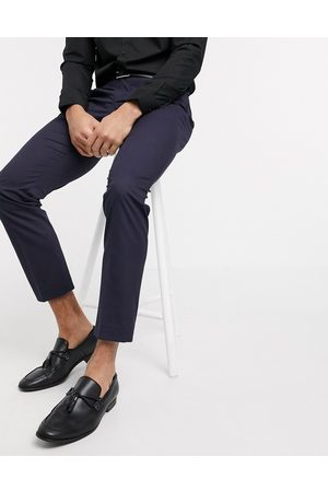 Selected Suit pants with stretch in slim fit navy