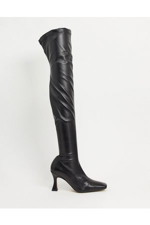 ASOS Keisha premium stretch over-the-knee boots with novel heel