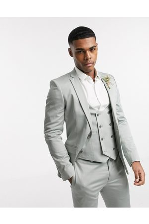 ASOS Wedding super skinny suit jacket in stretch cotton in dusky