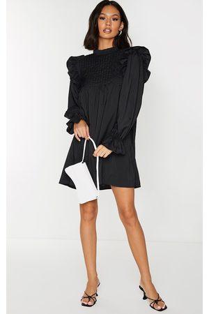 PRETTYLITTLETHING Ruffle Binding Detail Shirt Dress