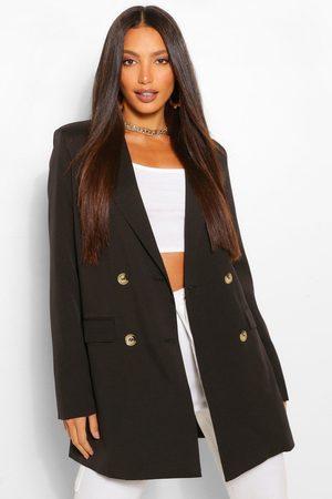 Boohoo Womens Tall Double Breasted Longline Oversized Blazer - - 2
