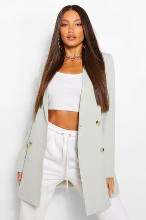 Boohoo Womens Tall Double Breasted Longline Oversized Blazer - - 2