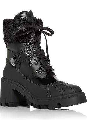 Moncler Women's Corinne Block Heel Platform Hiking Boots