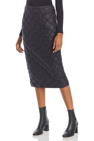 Moncler Women Midi Skirts - Gonna Quilted Down Midi Skirt