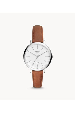 Fossil Women's Jacqueline Three-Hand Date Leather Watch