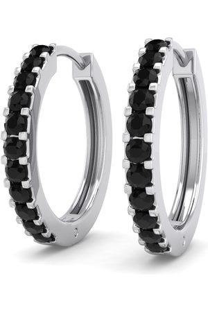 SuperJeweler 1/5 Carat Black Diamond Men's Hoop Earrings in 14K (2.10 g) by