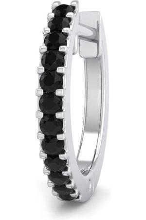 SuperJeweler 0.06 Carat Black Diamond Single Men's Hoop Earring in 14K (0.96 g) by