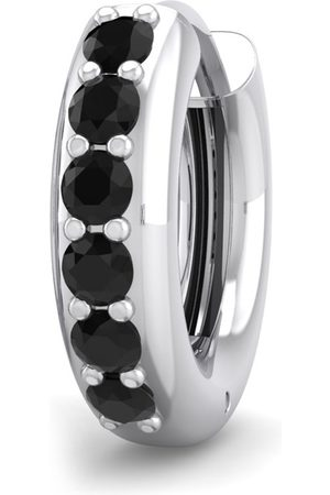 SuperJeweler 1/6 Carat Black Diamond Single Men's Hoop Earring in 14K (1.75 g) by