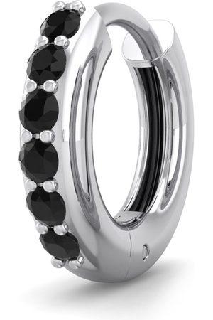 SuperJeweler 1/8 Carat Black Diamond Single Men's Hoop Earring in 14K (1.30 g) by
