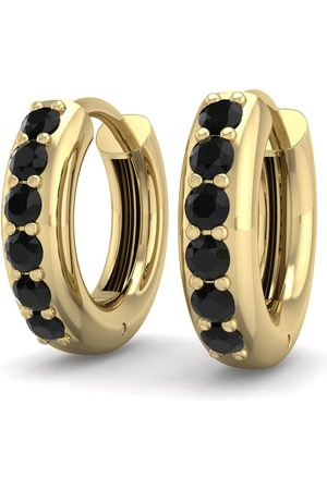 SuperJeweler 1/3 Carat Black Diamond Men's Hoop Earrings in 14K (3.50 g) by