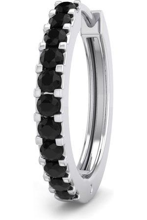 SuperJeweler 1/10 Carat Black Diamond Single Men's Hoop Earring in 14K (1 gram) by