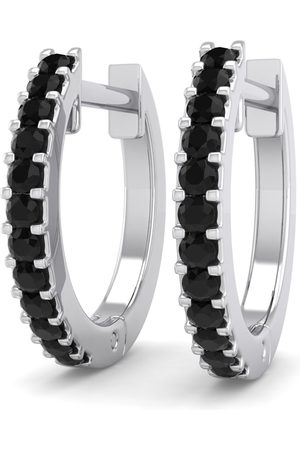 SuperJeweler 1/8 Carat Black Diamond Men's Hoop Earrings in 14K (1.90 g) by