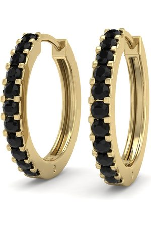 SuperJeweler 1/5 Carat Black Diamond Men's Hoop Earrings in 14K (2.10 g) by