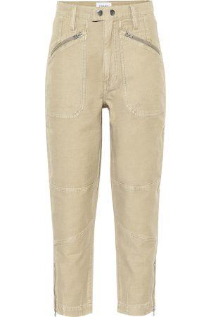 Frame Women High Waisted - Moto Zip high-rise straight jeans