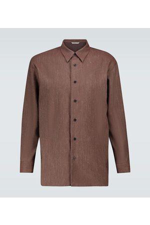 Auralee Men Long sleeves - Wool and linen twill shirt