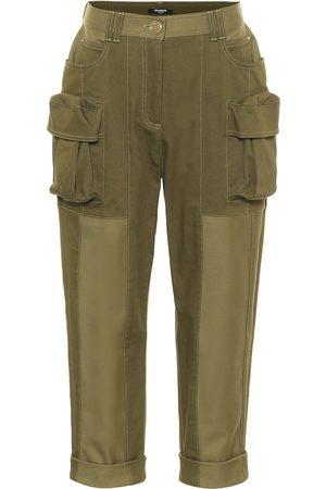 Balmain Stretch-cotton cropped pants
