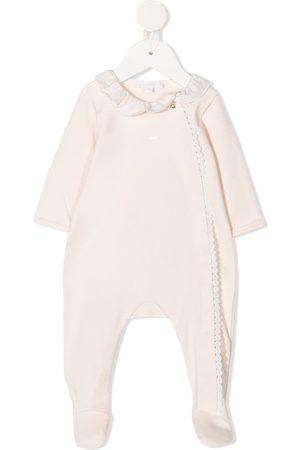 Chloé Ruffled neck cotton pajama - Neutrals