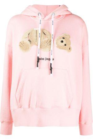 Palm Angels Women Hoodies - Teddy motif hoodie