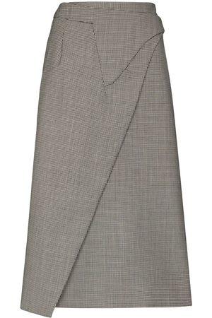WARDROBE.NYC Women Midi Skirts - X Browns 50 checked wrap midi skirt