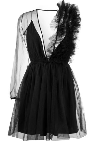 Alchemy Women Asymmetrical Dresses - Asymmetric sheer dress