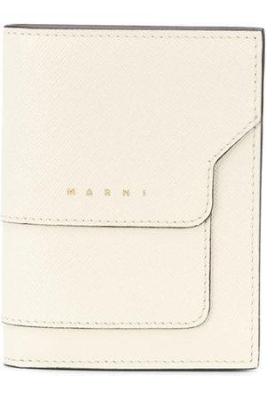 Marni Logo-print leather cardholder - Neutrals