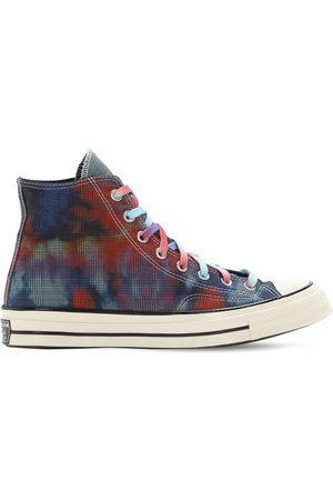 Converse Ct70 Tie Dye Plaid High Top Sneakers
