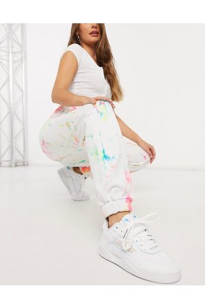 Jaded London Oversized sweatpants in grunge tie-dye and graphics