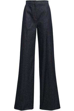 Max Mara Cady Tuxedo Pants W/ Satin Side Bands