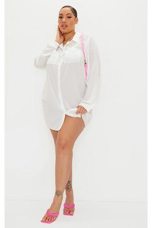 PRETTYLITTLETHING Plus Plain Shirt Dress