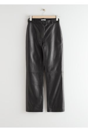 & OTHER STORIES Kick Flare Leather Trousers