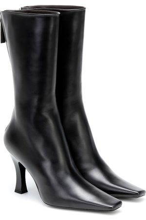 The Row Office leather ankle boots