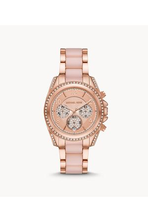 Michael Kors Women's Blair Chronograph Rose Gold-Tone Stainless Steel Watch - , Rose Gold