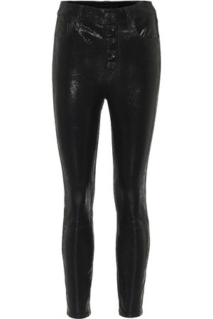 J Brand Lillie snake-effect leather pants